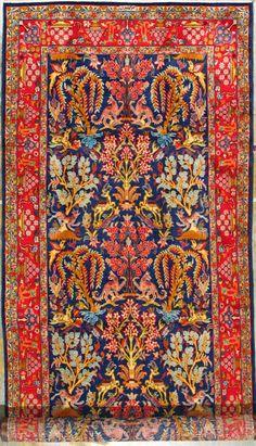 "Qum Persian Rug, Buy Handmade Qum Persian Rug 5' 2"" x 13' 1"", Authentic Persian…"