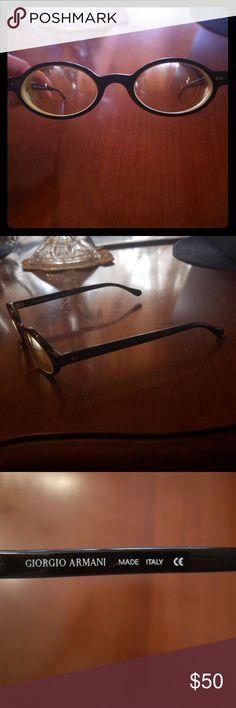 a4459be3142 Georgio Armani black women s oval eyeglass frames 100% authentic Georgio  Armani eyeglass frames. Oval