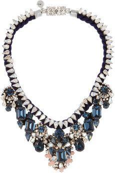 Shourouk   Gilda silver-plated Swarovski crystal necklace   