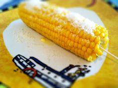 corn with parmesan  kukurydza gotowana z parmezanem