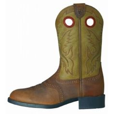 Ariat Kids Boots Heritage Stockman Distressed Brown Bomber