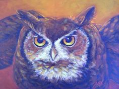 Owl by gayeverla1795664 in Painting Wildlife: Acrylic Mixed Media  @ www.Craftsy.com