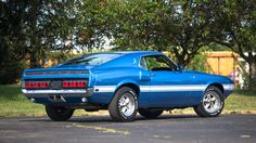 1969 Ford Mustang Shelby in Acapulco Blue Ford Mustang Shelby Gt, Mustang Boss, Shelby Gt500, Ford Mustangs, Vintage Mustang, Classic Mustang, Lifted Ford Trucks, Pony Car, Sweet Cars