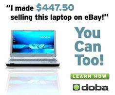I made $447.50 selling this laptop on eBay