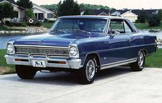 1966 Chevy Nova--My father had one, light blue. I loved the sight and sound of his car coming home.