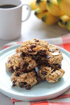 Skinny Banana Oat Flaxseed Cookies for #BrunchWeek - Hip Foodie Mom
