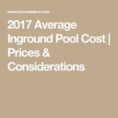 2017 Average Inground Pool Cost | Prices & Considerations