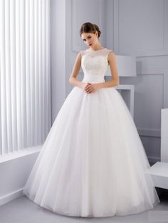 Shining Sequin Tulle Jewel Neckline Ball Gown Wedding Dress With Beadings Sincerity Bridal Wedding Dresses, Wedding Dress With Veil, Top Wedding Dresses, Wedding Dress Accessories, Wedding Dress Trends, Wedding Dress Sleeves, Wedding Bride, Bridal Dresses, Wedding Gowns