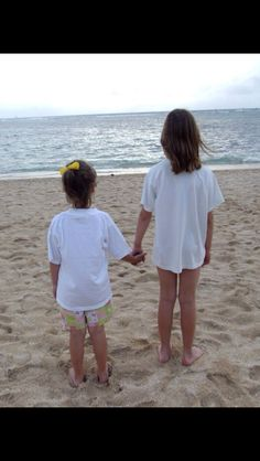 Me and Madeline ( my sister ) on the beach