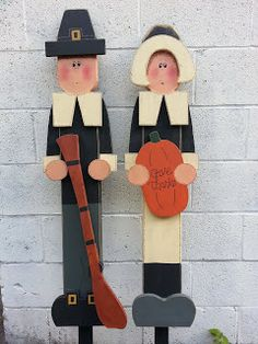 Simpsons woodcrafts with Moore: Thanksgiving Pilgrims