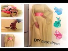 DIY - Kimono style - Maxi Dress (Abaya) inspired by Dina Tokio