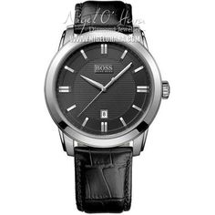 2652402f359 Free shipping and returns on HUGO BOSS Round Leather Strap Watch