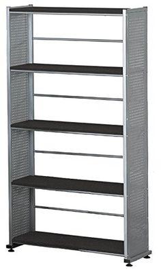 Mayline 5-Shelf Bookcase, 31-1/4-Inch, 11 by 58-Inch, Ant…