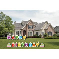 Happy Birthday Yard Sign, 15 pcs, Weather Resistant, Stakes Included - Walmart.com - Walmart.com Cake Icon, Happy Birthday Yard Signs, Balloons And More, Cake Shapes, Corrugated Plastic, Sons Birthday, Special Day, Weather, Lettering
