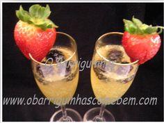 O Barriguinhas: Cocktail de Champanhe e Framboesas Brunch, Cocktails, Alcohol, Dinner, Breakfast, Tableware, Desserts, Raspberries, Champagne