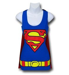 Images of Supergirl Women's Caped Costume Tank Top