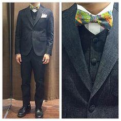 カジュアルな結婚式で着用するデニム新郎衣装,ブラックデニムオーダースーツ