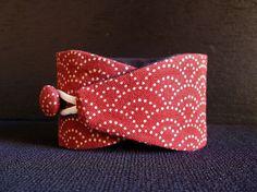 Obi bracelet Red sashiko - japanese fabric 100%cotton - Sashiko pattern on Etsy, $12.00
