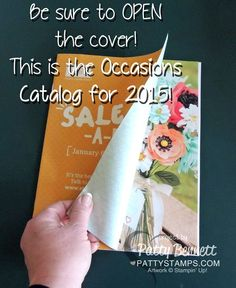 It's almost time.. the Occasions Catalog from Stampin' UP! starts on Jan. 6, 2015!