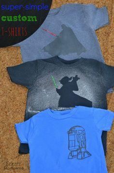 Diy star wars shirt darth vader stencil then spray bleach for Diy custom t shirts