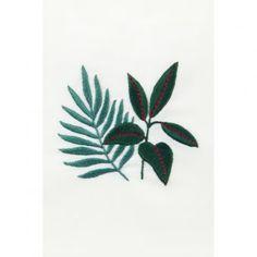 SEW & SAUNDERS Árvore da borracha + Planta de feto - desenho