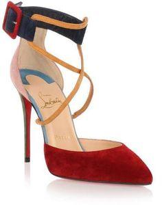 Women's Fashion High Heels :    Christian Louboutin Suzanna 100 multi colour suede pump  - #HighHeels https://youfashion.net/shoes/high-heels/best-womens-high-heels-christian-louboutin-suzanna-100-multi-colour-suede-pump/