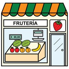 Pictogramas ARASAAC - Frutería. Spanish Classroom Activities, Spanish Teaching Resources, Montessori Activities, Spanish Lessons, Paper Doll House, Montessori Materials, Toy Rooms, Pictogram, Phonics