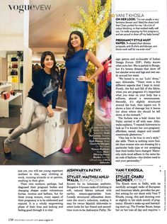 Going the Vogue way yet again!! Check out the January,2015 issue of Vogue India to find out how our very sophisticated and stylish CEO Charu Sachdev styles a pregnant woman with her choice of dress, pumps and accessories,making her look like a super fashionable mom-to-be!! @voguemagazine