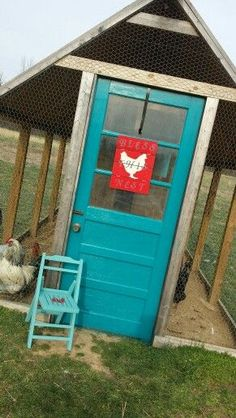 Chicken coop door! Bless this nest sign. Spoiled chickens. Chicken coop ideas. More