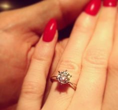 Solitaire diamond engagement ring | Click for your chance to win a $1000 gift card from Ritani!