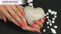 Ballerina #Nails mit #MoYou #Stamping by #GDN! #jolifin #nails #nailart #naildesign #trendnails #summernails #coral #summer