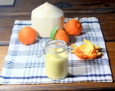 the wren and rabbit: sour orange and fresh coconut sauce