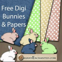 Free Bunny Digital Scrapbook Kit  *** Join 2,180 people. Follow our Free Digital Scrapbook Board. New Freebies every day.