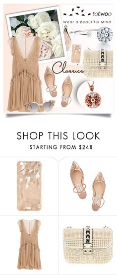 """""""Totwoo smart jewelry - My style"""" by violetta-valery ❤ liked on Polyvore featuring Jimmy Choo, Chloé, Valentino and totwoo"""