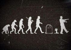Zombie Evolution - unsourced - funny - not a quote but who cares?