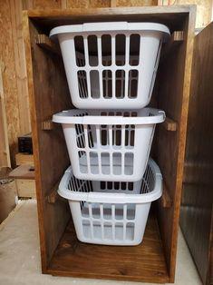 Laundry Basket Shelves, Wooden Laundry Basket, Laundry Basket Holder, Laundry Basket Dresser, Laundry Basket Organization, Wooden Basket, Laundry Room Organization, Stackable Laundry Baskets, Tilt Out Laundry Hamper