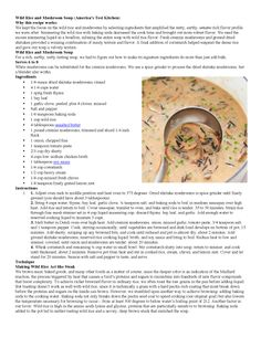 Wild Rice and Mushroom Soup, America's Test Kitchen