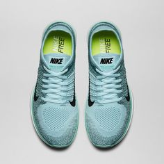 Nike Free Flyknit in Glacier Ice Nike Trainers, Sneakers Nike, Nike Water Shoes, Nike Tights, Nike Free Flyknit, Nike High Tops, Nike Bags, Nike Store, Sneaker Heels