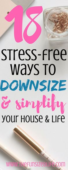 These simplifying ideas are so great! I haven't read a post like this one before! #downsize #simplify #minimalist #minimalism #simplelife