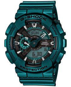 G-Shock Men's Analog-Digital Turquoise Bracelet Watch 55x51mm GA110NM-3A