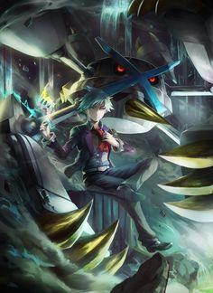 Steven & Mega Metagross | Art by BlueSoul