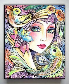 Fairy Art Fantasy Girl Whimsical Mermaid  River by evitaworks, $18.00