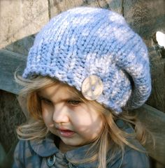 Sterling Slouchy Hat knitting pattern for children! Find this pattern and more inspiration at LoveKnitting.Com.