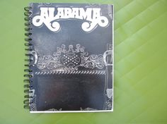 Alabama Record Cover Upcycled Notebook Spiral Bound