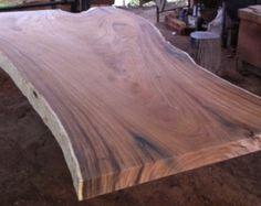 Vivre à bord Table à manger bois d'Acacia bord direct par flowbkk