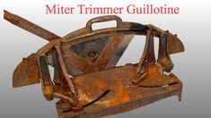 In this video I will be restoring an antique miter trimmer. I was searching for a miter like this for many months. Clean Up, Restoration, It Cast, Make It Yourself, Antiques, Metal, Antiquities, Antique, Metals