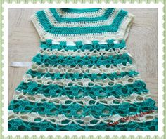 Sweet Nothings Crochet: FRILLY n CUTE LIL GIRL's SHELLED DRESS 2