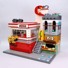 Lego Projects, Projects To Try, City Layout, Taco Shop, Amazing Lego Creations, Signages, Lego Modular, Brick Block, Lego Architecture