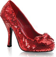 Women's Funtasma Oz 06 - Red Sequin Ornamented Shoes