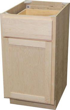 Best Quality One™ 18 X 34 1 2 Unfinished Oak Base Cabinet 640 x 480